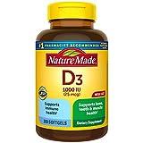 Nature Made Vitamin D3 1000 IU (25 mcg) Softgels, 300 Count for Bone Health†...