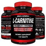 L-Carnitine 1000mg Servings 120 Tablets – Carnitine Amino Acid - Arazo Nutrition...