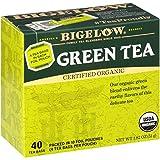 Bigelow Organic Green Tea Bags, 40 Count Box (Pack of 6) Caffeinated Green Tea, 240...